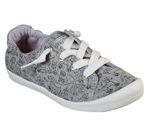 Gray Skechers BOBS Beach Bingo - Love Pups