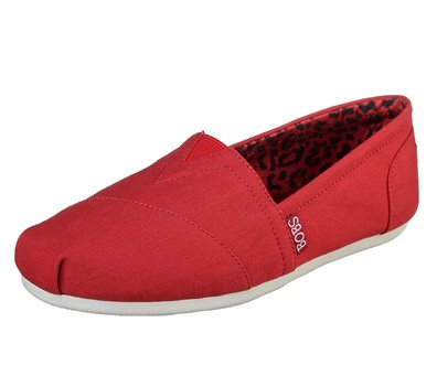 Red Skechers BOBS Plush - Peace and Love - FINAL SALE