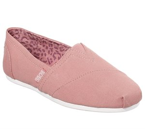 Dark Pink Skechers Bobs Plush - Peace and Love