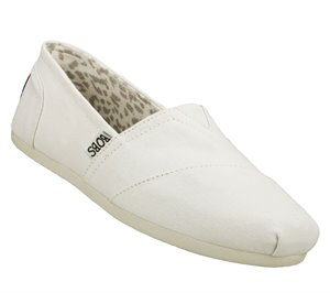 White Skechers BOBS Plush - Peace and Love