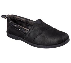 Black Skechers Bobs Chill Luxe - Buttoned Up