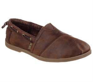Brown Skechers Bobs Chill Luxe - Buttoned Up