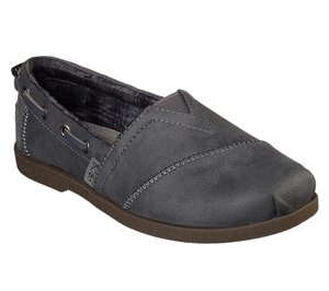 Gray Skechers Bobs Chill Luxe - Buttoned Up
