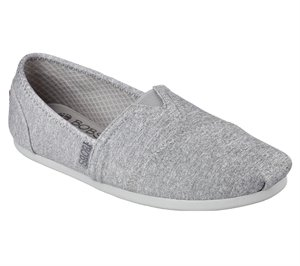 Gray Skechers Bobs Plush - Express Yourself