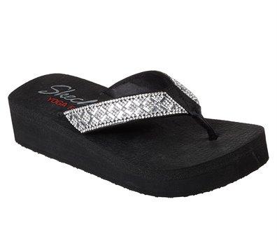 Black Silver Skechers Vinyasa
