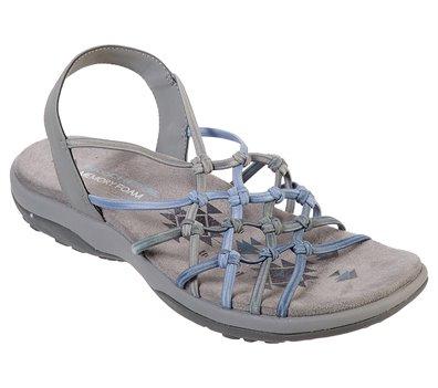 Gray Blue Skechers Reggae Slim - Forget Me Knot