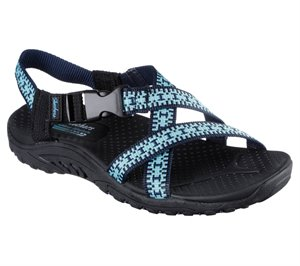 Black Teal Skechers Reggae - Kooky