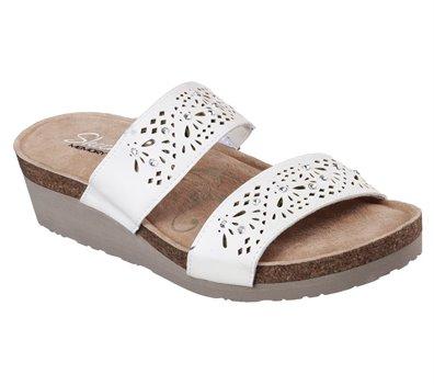 f02354e22204 Skechers Troos - Skitter in White - Skechers Womens Sandals on ...