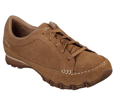 Brown Skechers Relaxed Fit: Bikers - Contained