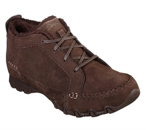 BROWN Skechers Relaxed Fit: Bikers - Lineage