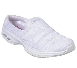 Silver White Skechers Relaxed Fit: Commute Time - Knitastic