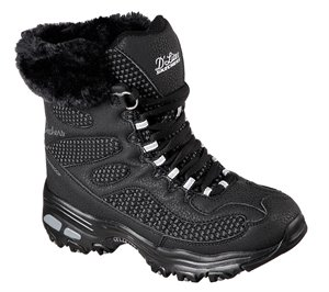 Black Skechers D'Lites - Bomb Cyclone