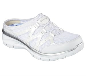 Silver White Skechers Relaxed Fit: Easy Going - Repute