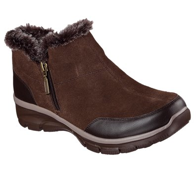 BROWN Skechers Relaxed Fit: Easy Going - Zip It