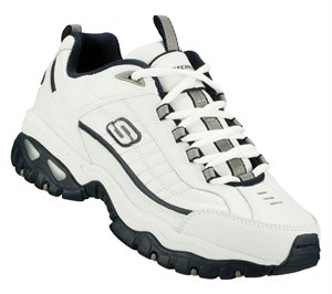 White/Navy Skechers Energy - After Burn