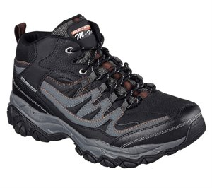 Gray Black Skechers After Burn Memory Fit - Geardo