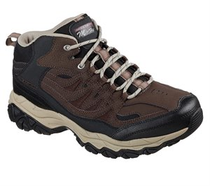 Black Brown Skechers After Burn Memory Fit - Geardo