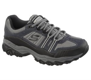 GrayNavy Skechers After Burn Memory Fit - Strike Off