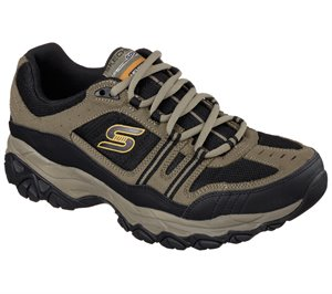 Black Natural Skechers After Burn Memory Fit - Strike Off