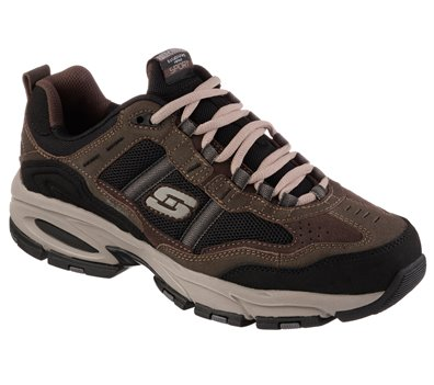Black Brown Skechers Vigor 2.0 - Trait - FINAL SALE