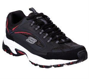 Red Black Skechers Stamina - Cutback