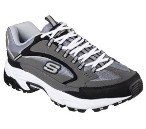 Black Gray Skechers Stamina - Cutback - FINAL SALE