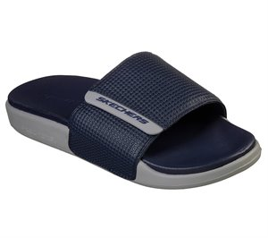 Gray Navy Skechers Gambix 2.0
