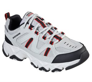 Gray White Skechers Relaxed Fit: Crossbar