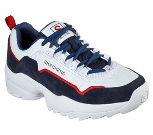 Navy White Skechers Tidao
