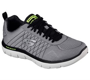 Black Gray Skechers Flex Advantage 2.0 - The Happs