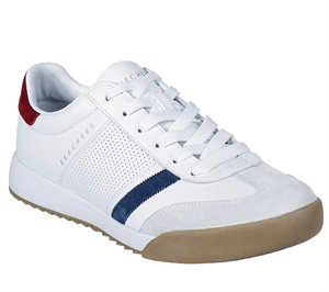 Red White Skechers Zinger
