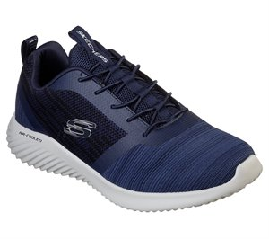 Navy Skechers Bounder