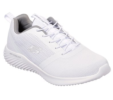 White Skechers Bounder - FINAL SALE