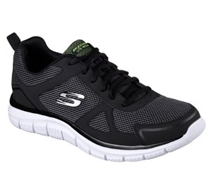 White Black Skechers Track - Bucolo - FINAL SALE