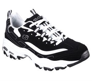 White Black Skechers D'Lites