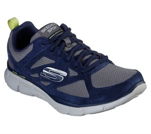 Gray Navy Skechers Equalizer - Ezdez