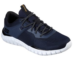 Black Navy Skechers Overhaul - Ryniss