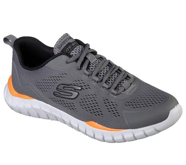 Orange Gray - Skechers Mens Athletic