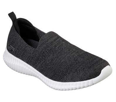 White Black Skechers Elite Flex - Aelhill