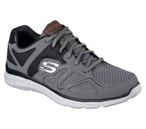 Orange Navy Skechers Satisfaction - Flash Point