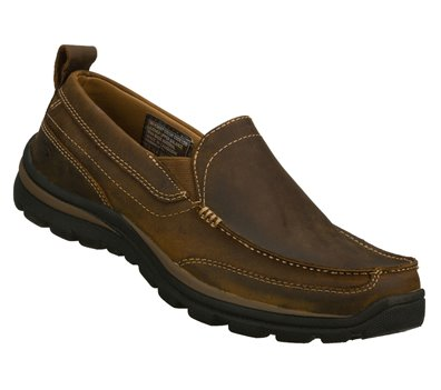 916250e935802c Skechers Relaxed Fit: Superior - Gains in Brown - Skechers Mens ...