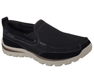 Black Skechers Relaxed Fit: Superior - Milford