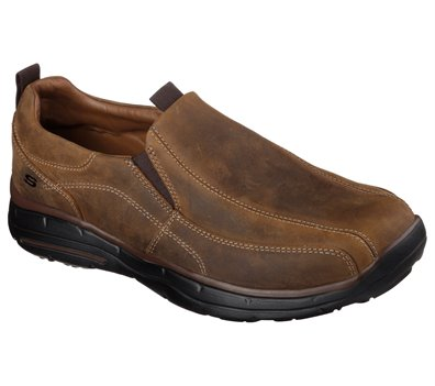Tan Skechers Relaxed Fit: Glides - Docklands