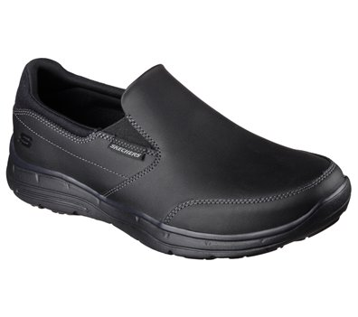Black Skechers Relaxed Fit: Glides - Calculous - FINAL SALE