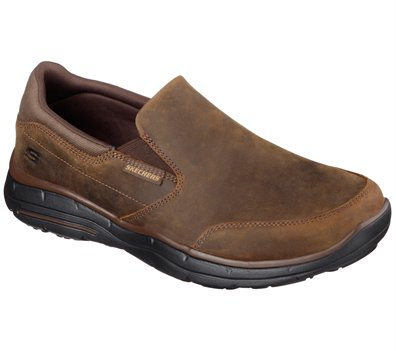 Brown Skechers Relaxed Fit: Glides - Calculous