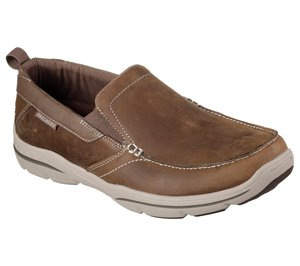 Brown White Skechers Relaxed Fit: Harper - Forde - FINAL SALE