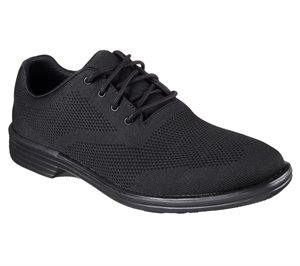 BLACK Skechers Relaxed Fit: Walson