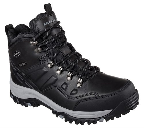 1853da3afd101 Skechers Relaxed Fit: Relment - Traven in Black Gray - Skechers Mens Boots  on Shoeline.com