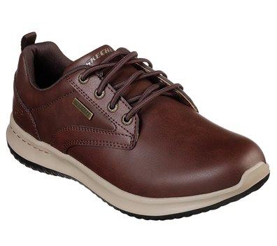 Brown Red Skechers Delson - Antigo - FINAL SALE