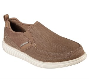 Brown Skechers Relaxed Fit: Status - Delton